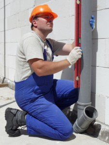 Plumber in action
